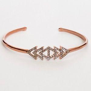 Stella & Dot Pave Triangle Cuff in Rose Gold